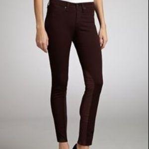 Rag & Bone Jodhpur Skinny  Jeans Pants in Wine 1